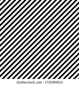 Diagonall lines pattern. Black lines on white background. Simple repeat ornament. Vector illustration.