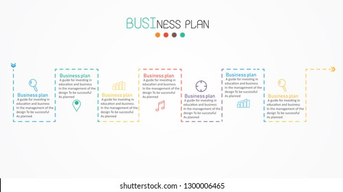 diagram Business and education with 7 steps vector illustration