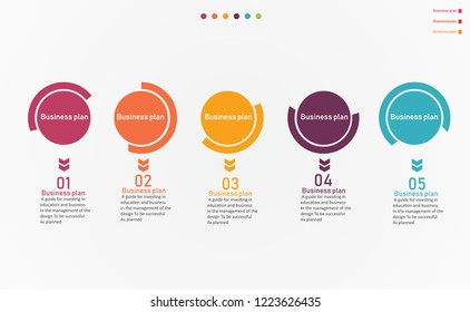 diagram Business and Education By Step 6 Stepsdesign  vector illustration