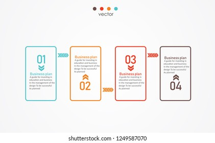 diagram Business and Education By Step 4 Stepsdesign  vector illustration