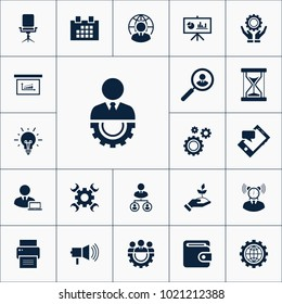 Diagram icon business set simple vector illustration