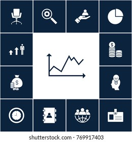 Diagram icon business set simple vector illustration sign