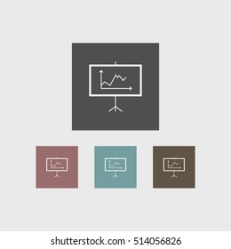 Diagram icon business simple vector illustration