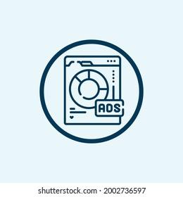 diagram icon isolated on white background. diagram icon thin line outline linear diagram symbol for logo, web, app