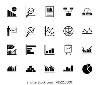 Diagram icon set