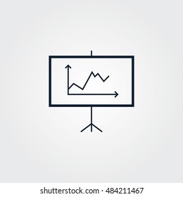 Diagram icon simple vector illustration sign