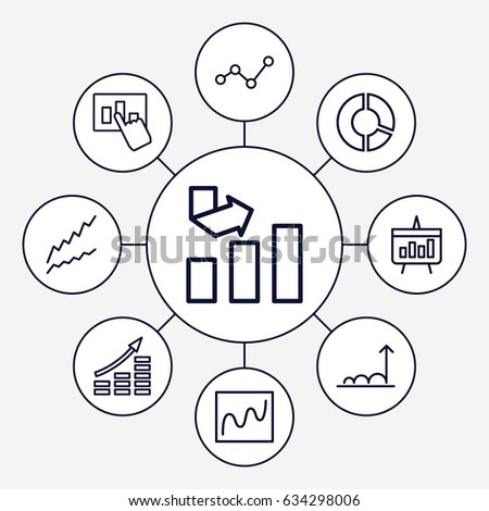 Diagram Icons Set Set 9 Diagram Stock Vector Royalty Free