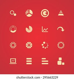 diagram icons universal set for web and mobile