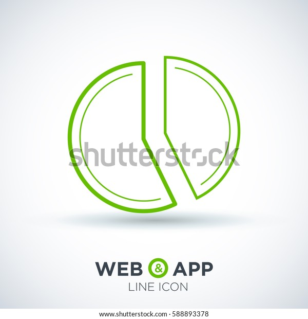diagram isolated minimal icon. round graphic line vector icon for websites and mobile minimalistic flat design.
