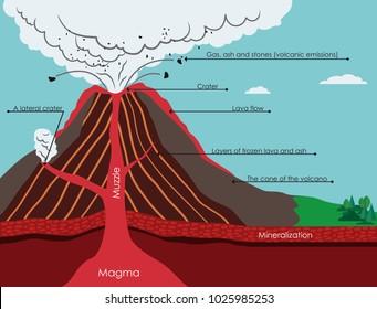 volcano diagram images, stock photos \u0026 vectors shutterstockdiagram of volcano