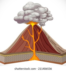 Composite volcano images stock photos vectors shutterstock diagram of volcano isolated on white background ccuart Image collections