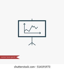 Diagramma icon business simple vector illustration