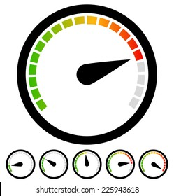 Dial, gauge templates. Measuring, indication, benchmarking element