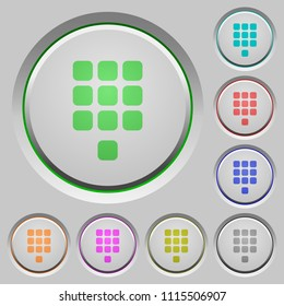 Dial pad color icons on sunk push buttons