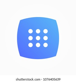 dial pad number icon