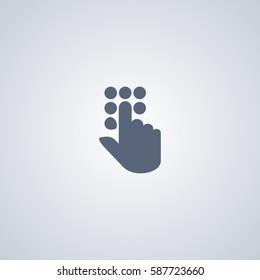 Dial vector icon, Entry vector icon