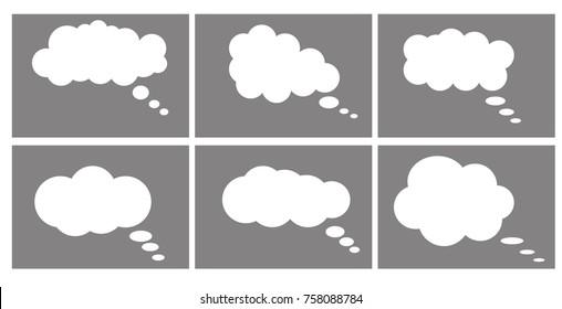 Dialog box icon, chat cartoon bubbles.