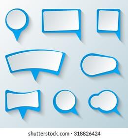 Dialog box icon. Speech bubble icon.