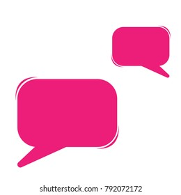 Dialog box vector speech bubbles, Blank comic message boxes collection for message, comments