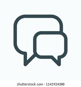 Dialog chat icon, talk chat vector icon