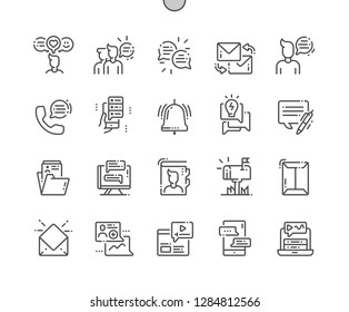 Dialogue assets Well-crafted Pixel Perfect Vector Thin Line Icons 30 2x Grid for Web Graphics and Apps. Simple Minimal Pictogram