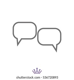dialogue, chat, conversation, icon, vector illustration EPS 10