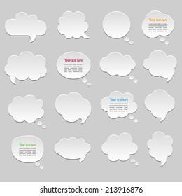 Dialogue cloud. Vector illustration