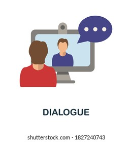 Dialogue icon. Simple element from blogging collection. Creative Dialogue icon for web design, templates, infographics and more