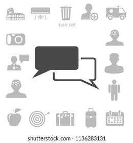 Dialogue icon vector illustration