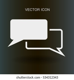 Dialogue icon vector illustration
