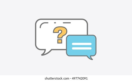 Dialogue with question mark vector illustration