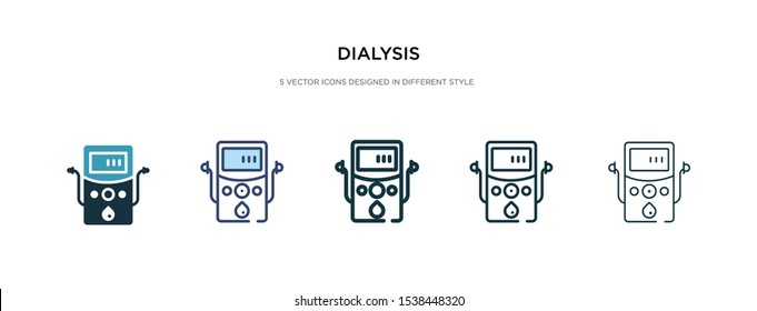 dialysis icon in different style vector illustration. two colored and black dialysis vector icons designed in filled, outline, line and stroke style can be used for web, mobile, ui
