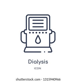 dialysis icon from technology outline collection. Thin line dialysis icon isolated on white background.