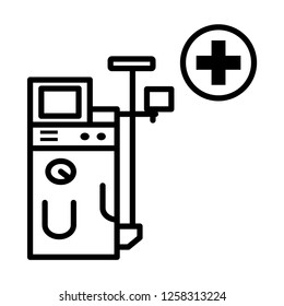 Dialysis vector icon