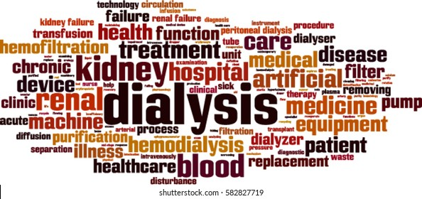 Dialysis word cloud concept. Vector illustration