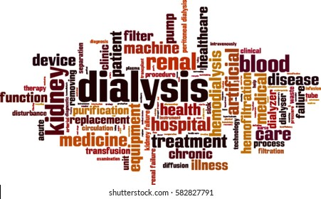 Dialysis word cloud concept. Vector illustration