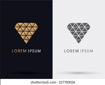 Diamond abstract logo,vector.