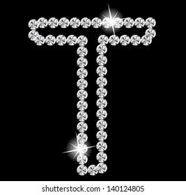 Diamond Alphabet vector illustration