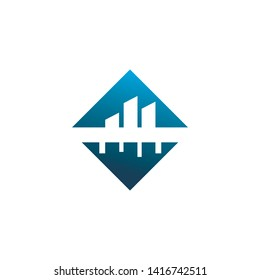 diamond bilding tower logo design