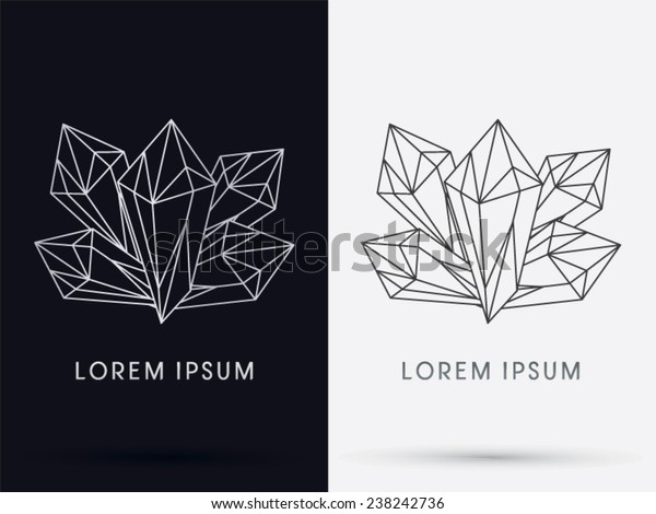 Diamond, crystal, logo, symbol, icon, graphic, vector .