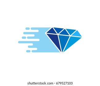 Diamond Delivery Icon Logo Design Element