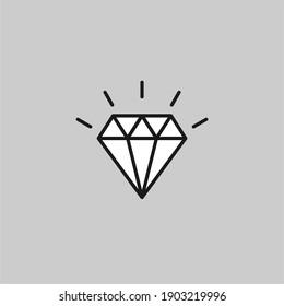 Diamond flat vector icon. Brilliant flat vector icon