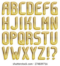 Diamond font, part 1/2 Alphabet