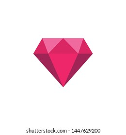 Diamond gemstone icon symbol vector