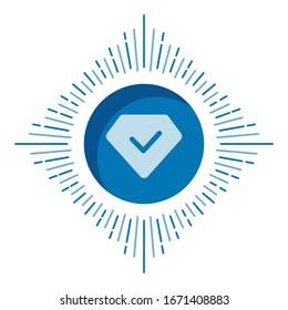 Diamond gemstone icon symbol vector