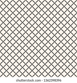 8e122a86b Diamond grid seamless pattern. Vector rhombuses geometric texture. Simple  abstract monochrome background with thin