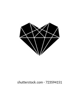 Diamond heart icon