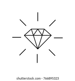 Diamond icon. Brilliant vector icon