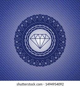 diamond icon with denim texture