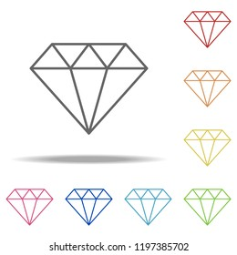 diamond icon. Elements of Finance and chart in multi colored icons. Simple icon for websites, web design, mobile app, info graphics
